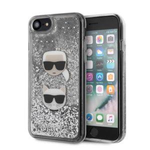 Karl Lagerfeld Liquid Glitter Hearts - Etui iPhone SE 2020 / 8 / 7
