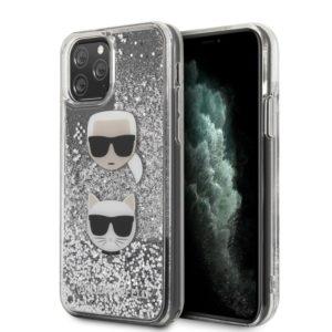 Karl Lagerfeld Liquid Glitter Hearts - Etui iPhone 11 Pro
