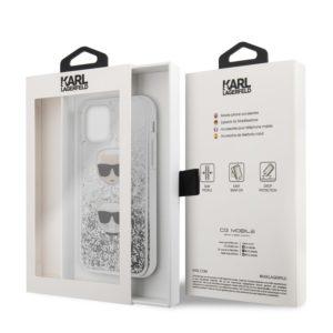 Karl Lagerfeld Liquid Glitter Hearts - Etui iPhone 11 Pro Max