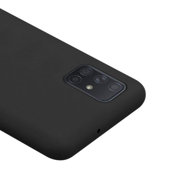 Crong Color Cover - Etui Samsung Galaxy A51 (czarny)