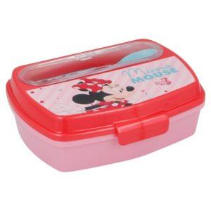 Mickey Mouse - Lunchbox z kompletem sztućców