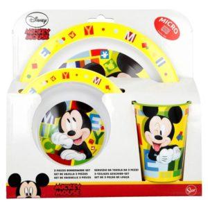 Mickey Mouse - Zestaw naczyń do mikrofali  (Talerz