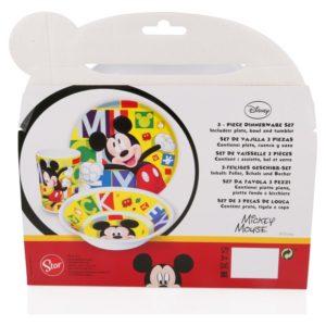 Mickey Mouse - Zestaw naczyń z melaminy (Talerz