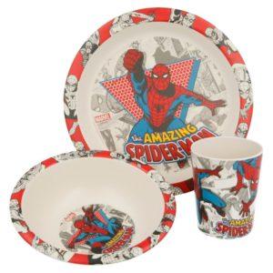 Spiderman - Zestaw naczyń Bambusowych (Talerz