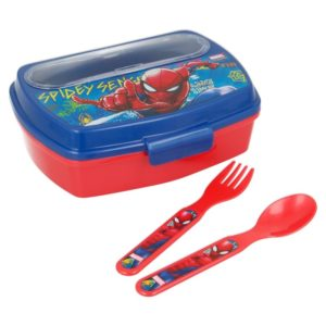 Spiderman - Lunchbox ze sztućcami (Łyżka