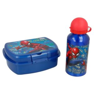 Spiderman - Zestaw Lunchbox + Butelka aluminiowa 400 ml