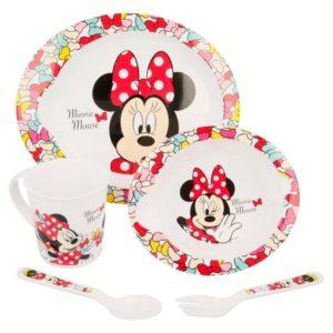 Minnie Mouse - Zestaw naczyń do mikrofali 5 szt (Talerz