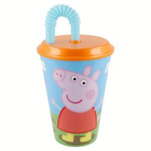 Peppa Pig - Kubek ze słomką 430 ml