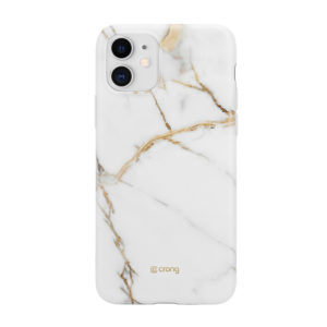 Crong Marble Case – Etui iPhone 11 (biały)