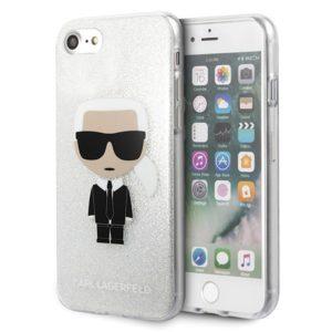 Karl Lagerfeld Iconic Karl - Etui iPhone SE 2020 / 8 / 7 (Silver Glitter)
