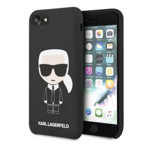 Karl Lagerfeld Fullbody Silicone Iconic - Etui iPhone SE 2020 / 8 / 7 (Black)