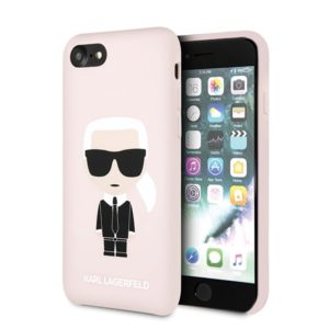 Karl Lagerfeld Fullbody Silicone Iconic - Etui iPhone SE 2020 / 8 / 7 (Light Pink)