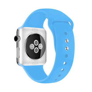 Crong Liquid Band - Pasek do Apple Watch 42/44 mm (niebieski)
