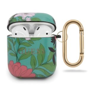 Guess Flower Collection N1 - Etui Airpods (Green)