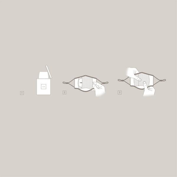 Moshi Nanohedron – Zestaw wymiennych filtrów do maseczki OmniGuard (5 szt.) (S)