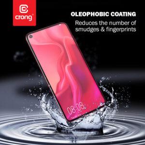 Crong 7D Nano Flexible Glass - Szkło hybrydowe 9H na cały ekran OPPO realme C11