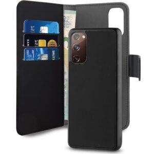 PURO Wallet Detachable - Etui 2w1 Samsung Galaxy S20 FE (czarny)