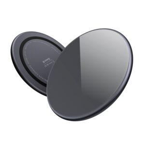 Crong Fast Wireless Charger - Bezprzewodowa ładowarka indukcyjna Qi 15W (Shadow Black)