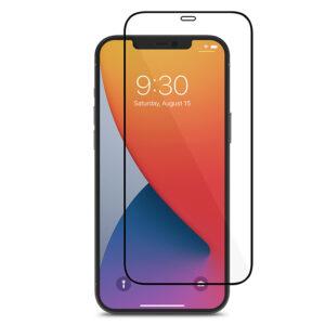 Moshi AirFoil Pro – Elastyczne szkło hybrydowe iPhone 12 Pro Max (czarna ramka)