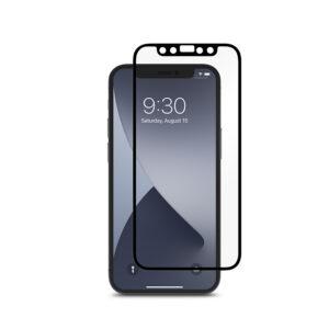 Moshi iVisor AG - Matowa folia ochronna na ekran iPhone 12 Mini (czarna ramka)