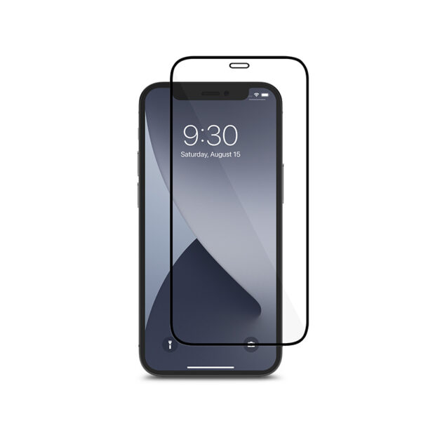Moshi AirFoil Pro – Elastyczne szkło hybrydowe iPhone 12 Mini (czarna ramka)