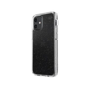 Speck Presidio Perfect-Clear with Glitter - Etui iPhone 12 Mini z powłoką MICROBAN (Gold Glitter/Clear)