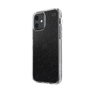 Speck Presidio Perfect-Clear with Glitter - Etui iPhone 12 / iPhone 12 Pro z powłoką MICROBAN (Gold Glitter/Clear)