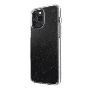 Speck Presidio Perfect-Clear with Glitter - Etui iPhone 12 Pro Max z powłoką MICROBAN (Gold Glitter/Clear)