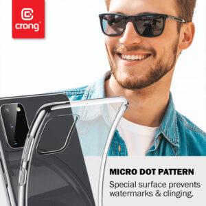Crong Crystal Slim Cover - Etui Xiaomi Mi 10 Lite (przezroczysty)