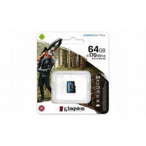 Kingston Canvas Go Plus microSDXC - Karta pamięci 64 GB A2 Class 10 UHS-I U3 V30 170/70 MB/s