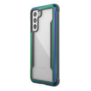 X-Doria Raptic Shield - Etui aluminiowe Samsung Galaxy S21 (Antimicrobial protection) (Iridescent)