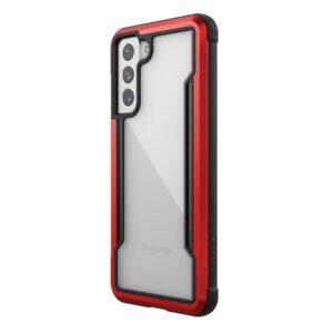 X-Doria Raptic Shield - Etui aluminiowe Samsung Galaxy S21 (Antimicrobial protection) (Red)