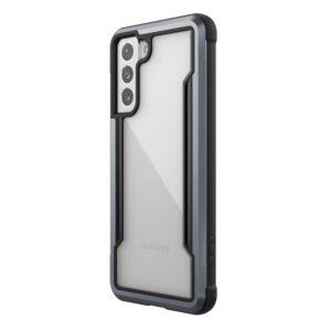 X-Doria Raptic Shield - Etui aluminiowe Samsung Galaxy S21 (Antimicrobial protection) (Black)