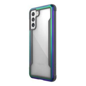 X-Doria Raptic Shield - Etui aluminiowe Samsung Galaxy S21+ (Antimicrobial protection) (Iridescent)