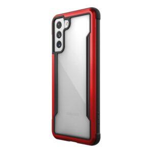 X-Doria Raptic Shield - Etui aluminiowe Samsung Galaxy S21+ (Antimicrobial protection) (Red)
