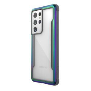 X-Doria Raptic Shield - Etui aluminiowe Samsung Galaxy S21 Ultra (Antimicrobial protection) (Iridescent)