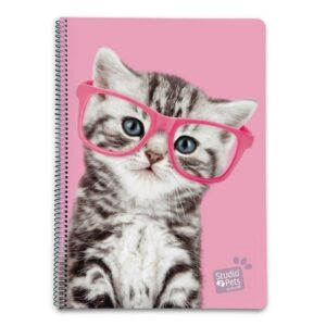 Studio Pets - Notatnik / Notes A4 Kot w okularach