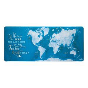 Mata gamingowa / na biurko Mapa świata XXL (niebieski)