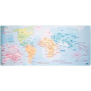 Mata gamingowa / na biurko Mapa świata XXL (kolorowy)