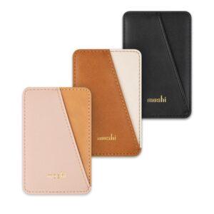 Moshi Slim Wallet - Portfel magnetyczny (System SnapTo™) (Caramel Brown)