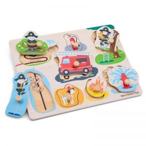 New Classic Toys - Drewniane Puzzle Strażacy (8 elementów)