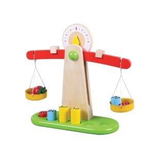 Lelin Toys - Drewniana waga z ciężarkami