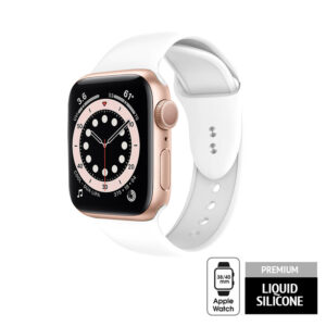 Crong Liquid - Pasek do Apple Watch 38/40mm (biały)