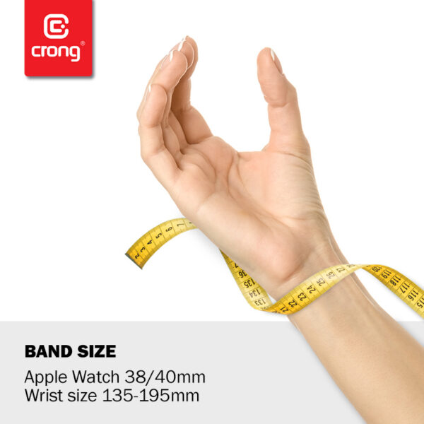 Crong Liquid - Pasek do Apple Watch 38/40mm (biały)