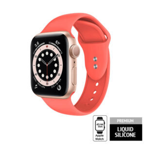 Crong Liquid - Pasek do Apple Watch 42/44mm (koralowy)