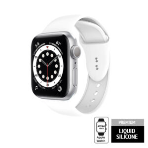 Crong Liquid - Pasek do Apple Watch 42/44mm (biały)