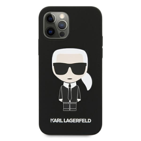 Karl Lagerfeld Fullbody Silicone Iconic - Etui iPhone 12 Pro Max (Black)