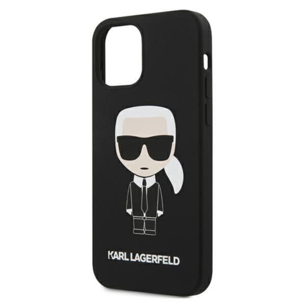 Karl Lagerfeld Fullbody Silicone Iconic - Etui iPhone 12 / 12 Pro (Black)