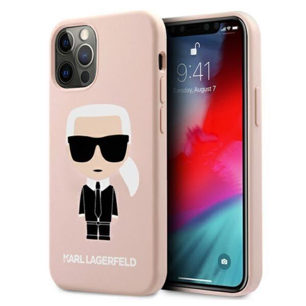 Karl Lagerfeld Fullbody Silicone Iconic - Etui iPhone 12 / 12 Pro (Light Pink)