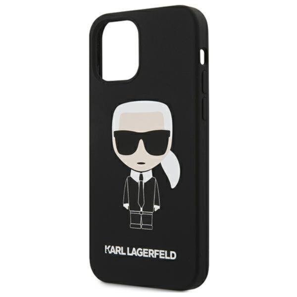 Karl Lagerfeld Fullbody Silicone Iconic - Etui iPhone 12 Mini (Black)